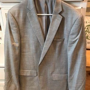 Van Heusen Grey Sports Coat Slim Fit 44R (Flex)